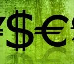 EUR, GBP, USD og JPY