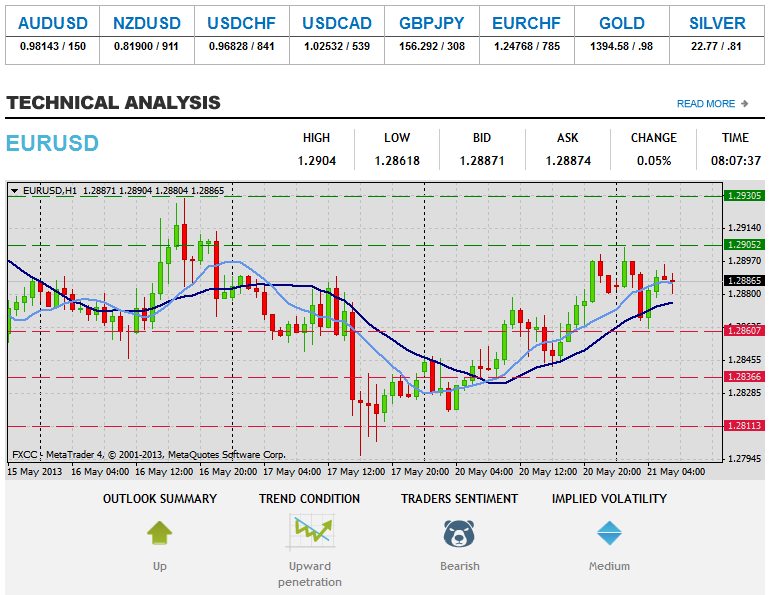 Forex Technical & Market Analysis FXCC May 21 2013 112