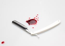 cut-throat-razor-blood