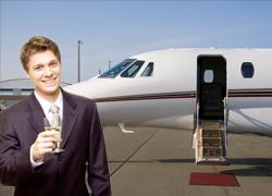 man-champagne-plane