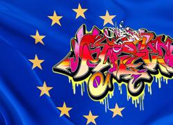 graffiti-euro-flag