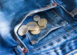 money-falling-jeans