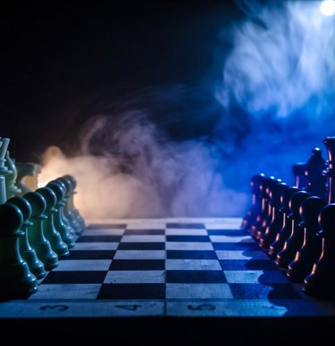 trade war (chess board)